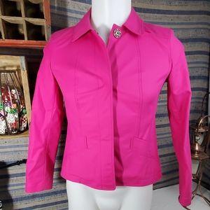 Petite lafayette new York 148 hot pink jacket sz 4